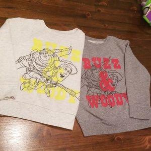 2 Buzz & Woody Sweatshirts